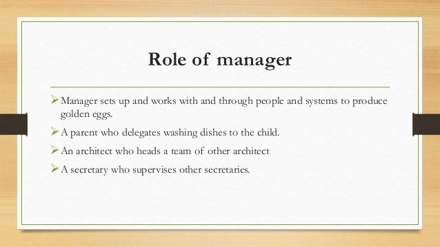 manager responsibilities and effective delegation Stop doing, start managing here are 10 tips for effective delegation and, more importantly, effective supervision: 1 delegate early make an effort to delegate the task early to avoid unnecessary pressure ensure that the subordinate is given the relevant responsibility and authority to complete the task.