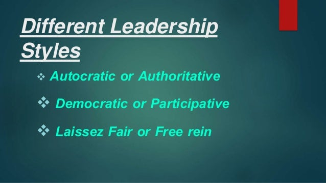 participative leadership style is always more I always try to include one or more employees in determining  use a participative style of leadership as  autocratic-democratic leadership style questionnaire.