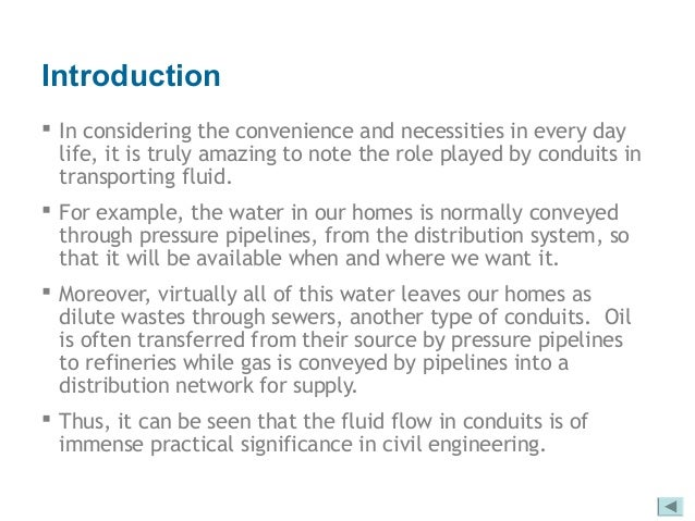 fluid mechanics for civil engineering, flow patterns in