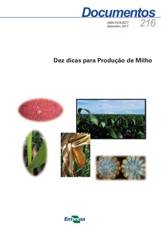 Documentos 216 Dez dicas para Produção de Milho ISSN 1518-4277 Dezembro, 2017
