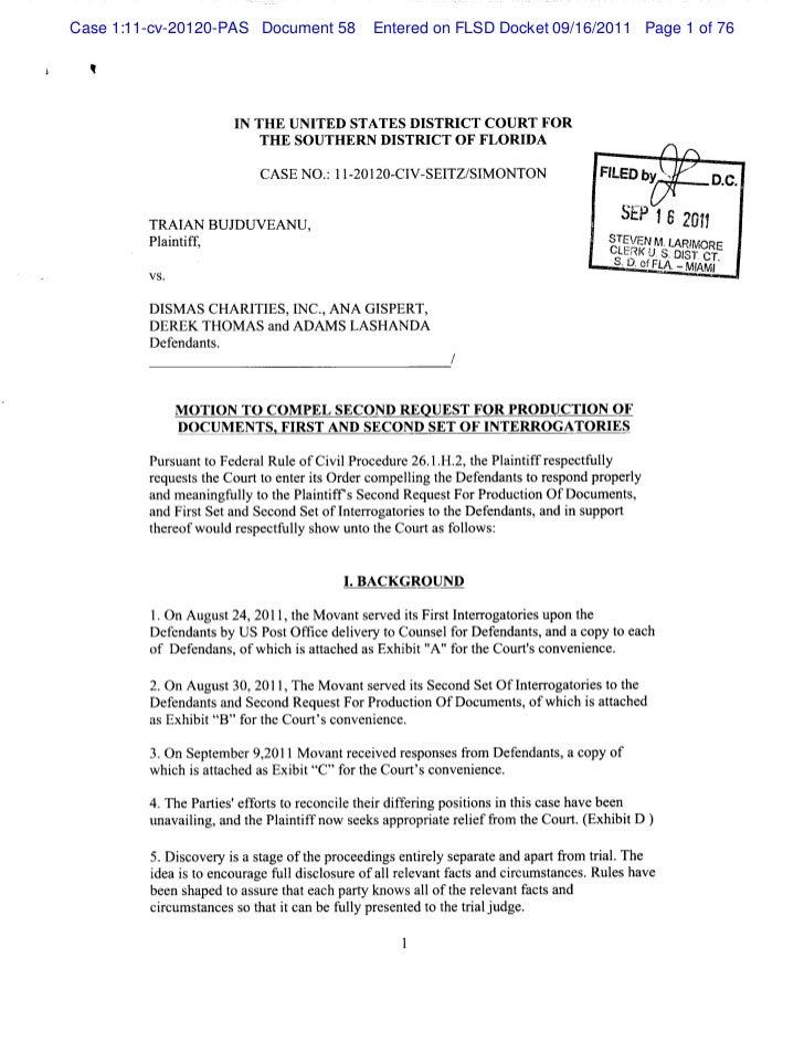 Case 1:11-cv-20120-PAS Document 58      Entered on FLSD Docket 09/16/2011 Page 1 of 76                     I THE UNI      ...