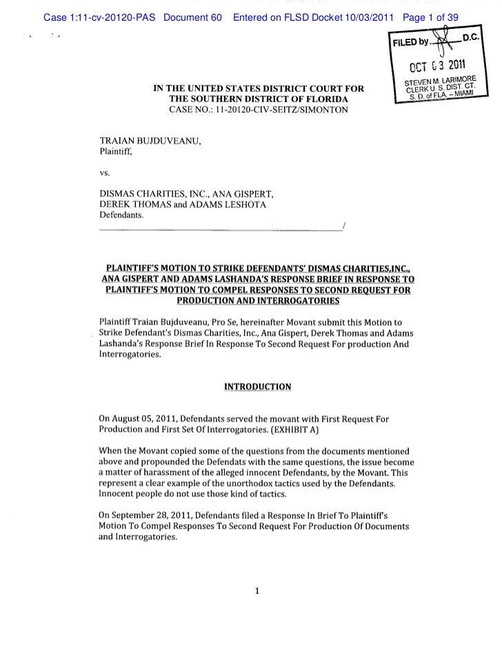 Case 1:11-cv-20120-PAS Document 60      Entered on FLSD Docket 10/03/2011 Page 1 of 39                                    ...