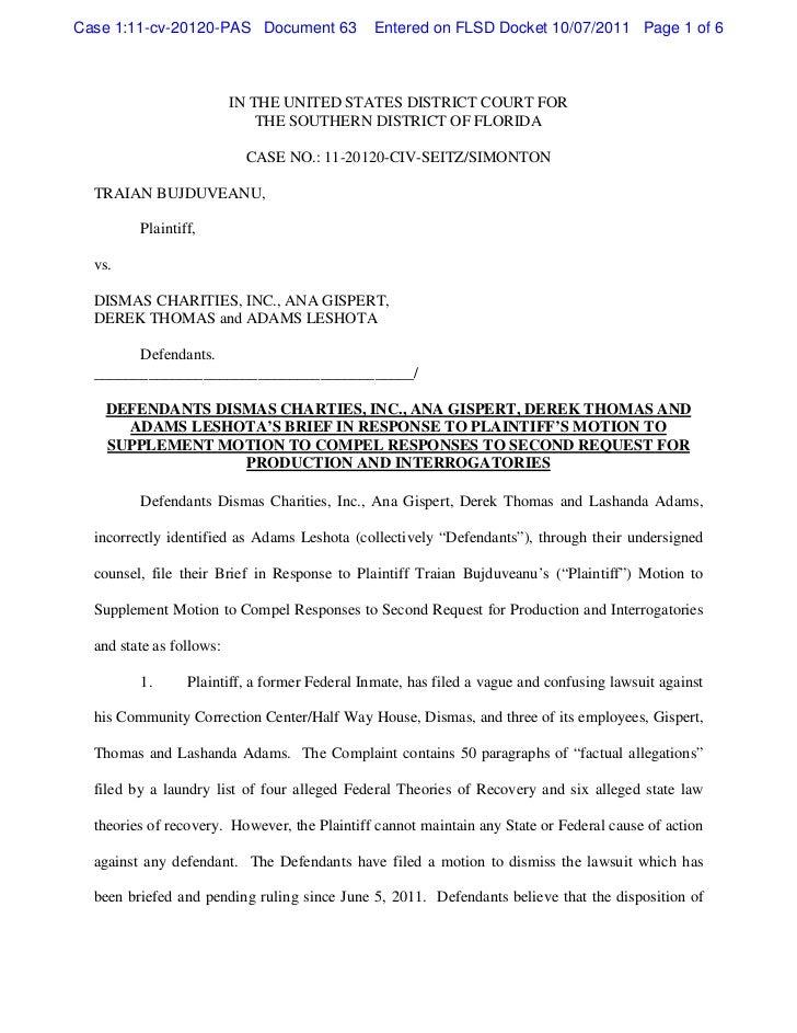 Case 1:11-cv-20120-PAS Document 63             Entered on FLSD Docket 10/07/2011 Page 1 of 6                          IN T...
