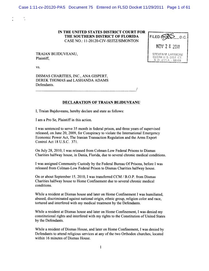 Case 1:11-cv-20120-PAS Document 75 Entered on FLSD Docket 11/29/2011 Page 1 of 61                   I TH E UNITED STATES D...