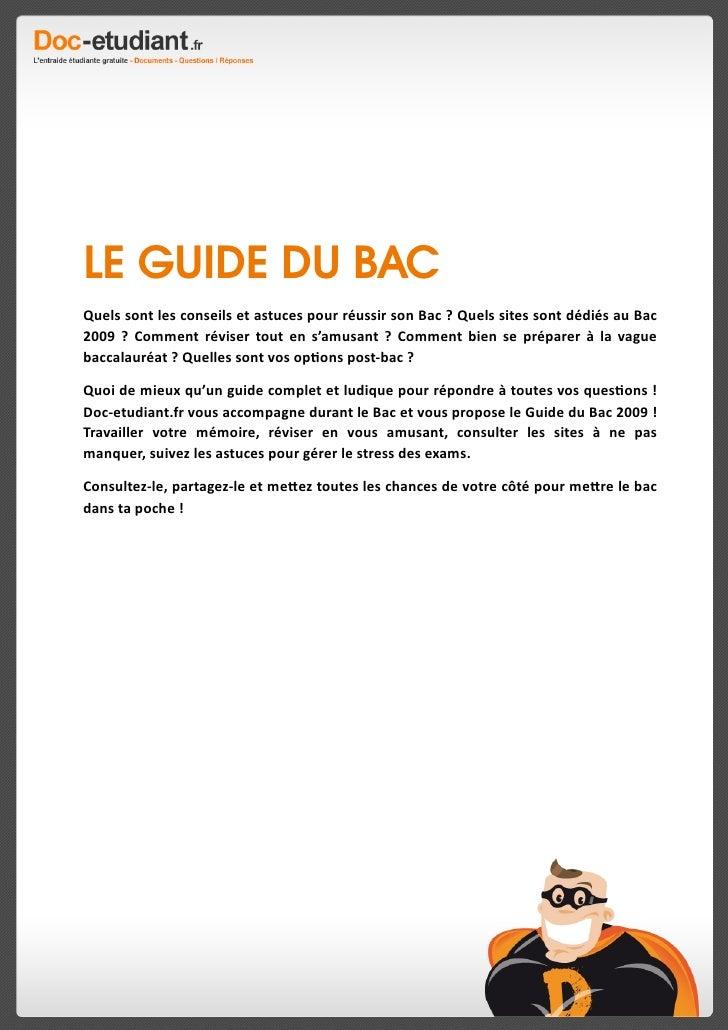 Le Guide Du Bac 2009 de Doc-etudiant.fr Slide 2