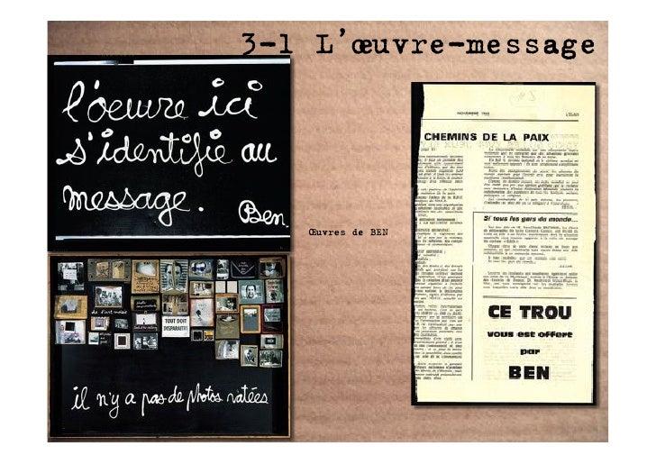3-1 L'œuvre-message        Œuvres de BEN