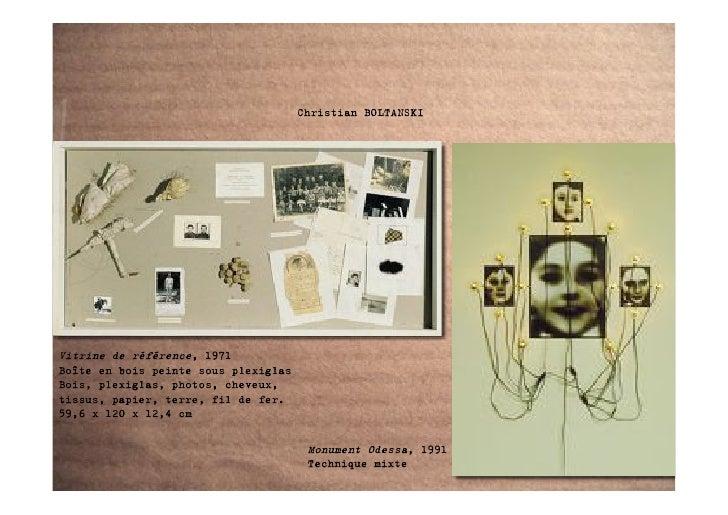 Christian BOLTANSKI     Vitrine de référence, 1971 Boîte en bois peinte sous plexiglas Bois, plexiglas, photos, cheveux, t...