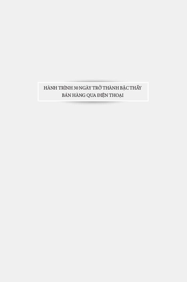 1 HÁN QUANG DỰ HÀNH TRÌNH 30 NGÀY TRỞ THÀNH BẬC THẦY BÁN HÀNG QUA ĐIỆN THOẠI
