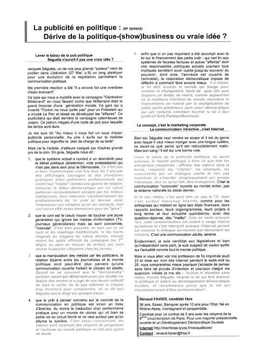Communication Politique RF 2002
