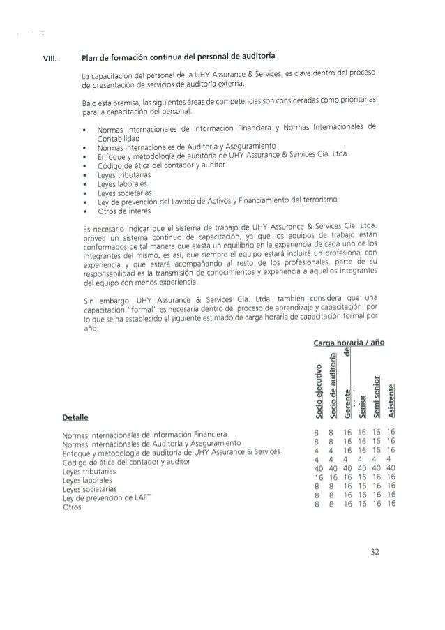 Reglamento Interno de Auditoría