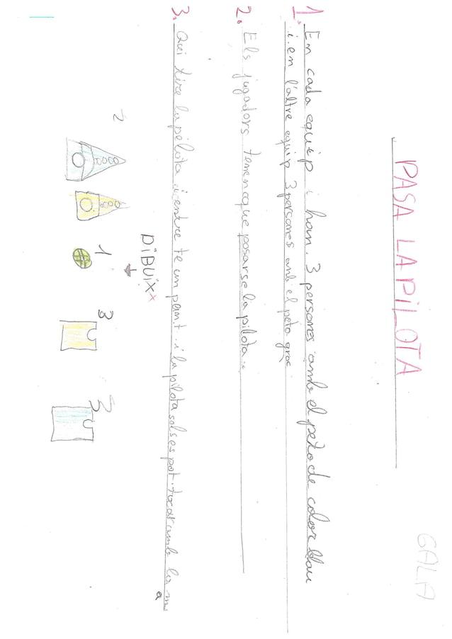 jocs inventats per les i els alumnes de 4t. Full en blanc