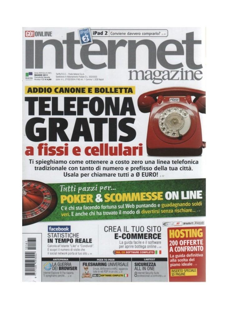 Editoria Digitale: ebook a che punto siamo? - Intervista ad Internet Magazine, maggio 2011