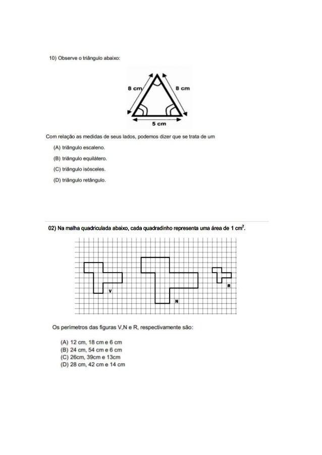 Simulado matemática