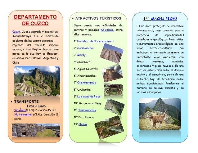 ATRACTIVOS TURISTICOS Cusco cuenta con infinidades de centros y paisajes turísticos, entre ellos tenemos. 1° Fortaleza de ...