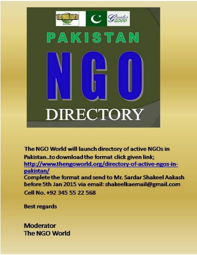 Directory of NGOs in Pakistan