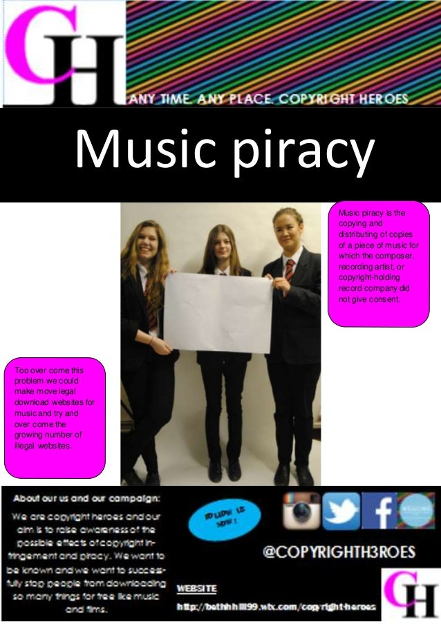 Music piracy Music piracy is the copying and distributing of copies of a piece of music for which the composer, recording ...