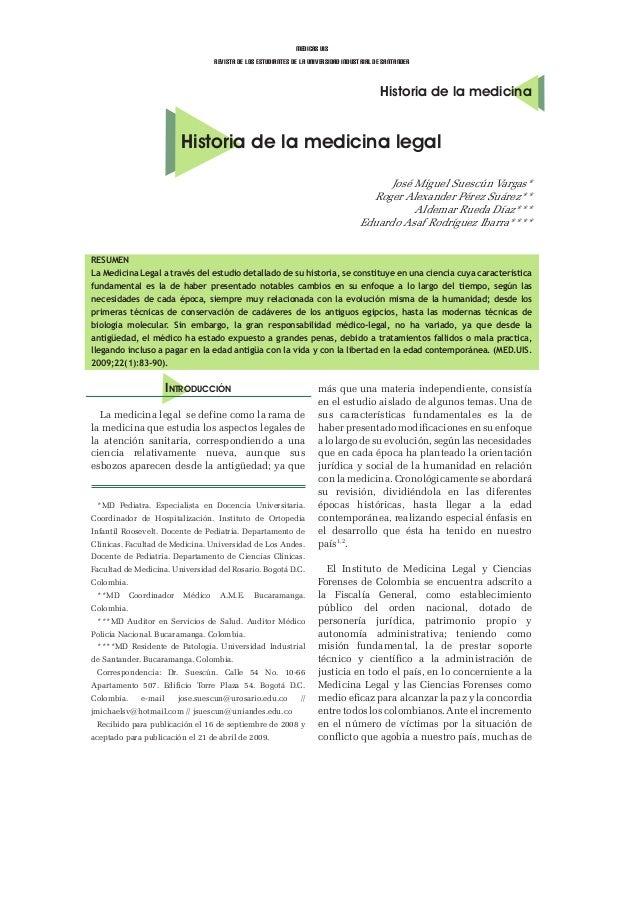 medicas uisrevista de los estudiantes de la universidad industrial de santanderHistoria de la medicinaHistoria de la medic...
