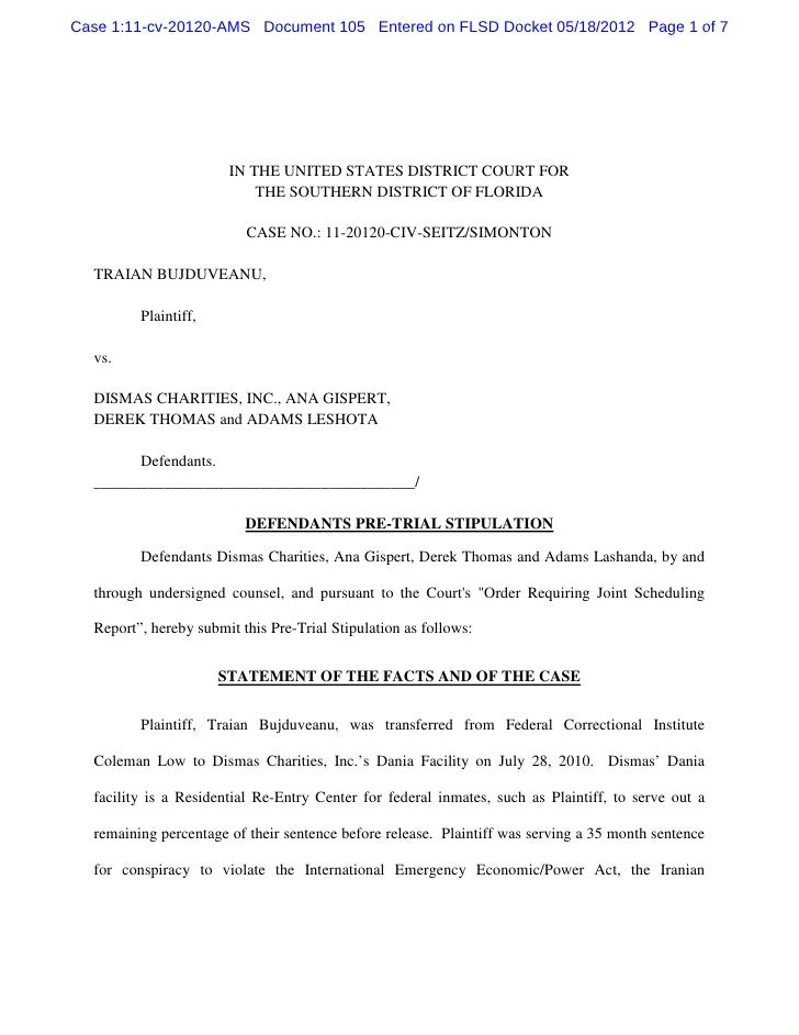 Case 1:11-cv-20120-AMS Document 105 Entered on FLSD Docket 05/18/2012 Page 1 of 7                       IN THE UNITED STAT...