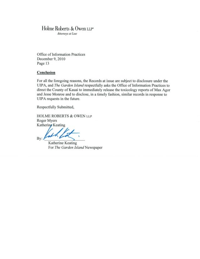 Tgi Attorney December 2010 Letter To Oip