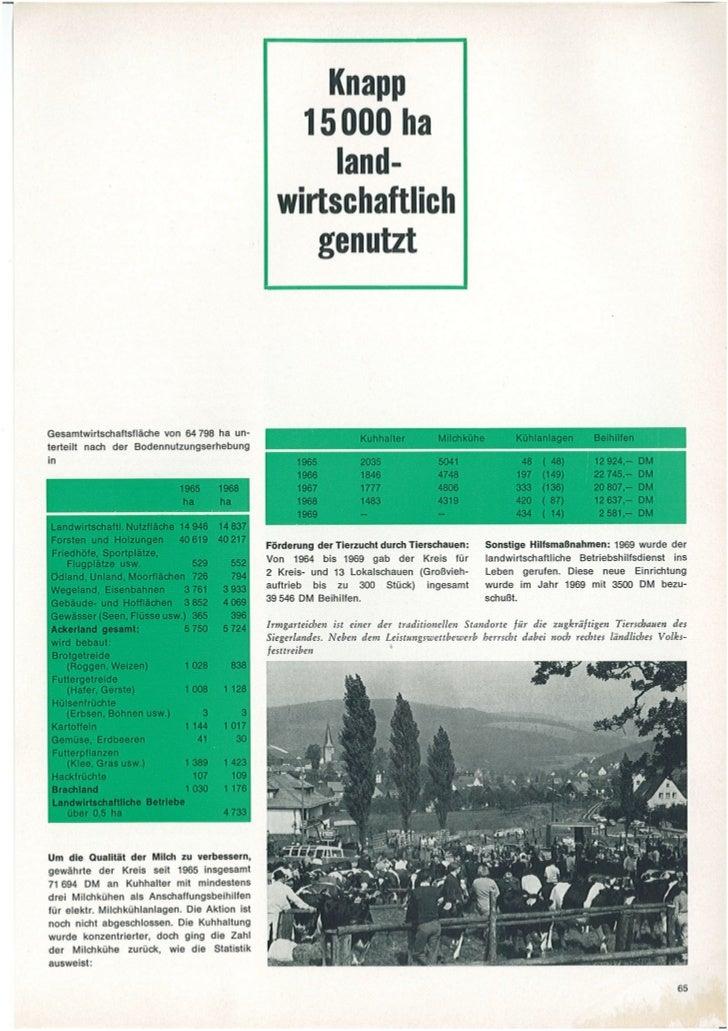 Geschehen. Geleistet. Geplant. Kreis Siegen Verwaltungsbericht 1964-1969. Teil 3