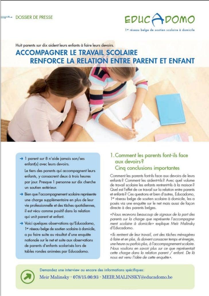 Educadomo enquete sur les parents et le soutien scolaire