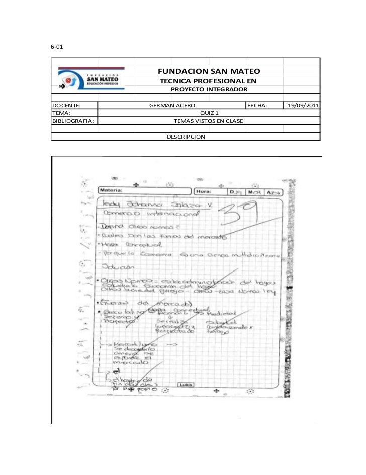 6-01                  FUNDACION SAN MATEO                  TECNICA PROFESIONAL EN                     PROYECTO INTEGRADORD...