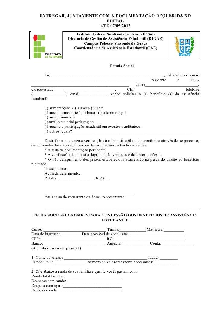 ENTREGAR, JUNTAMENTE COM A DOCUMENTAÇÃO REQUERIDA NO                           EDITAL                         ATÉ 07/05/20...