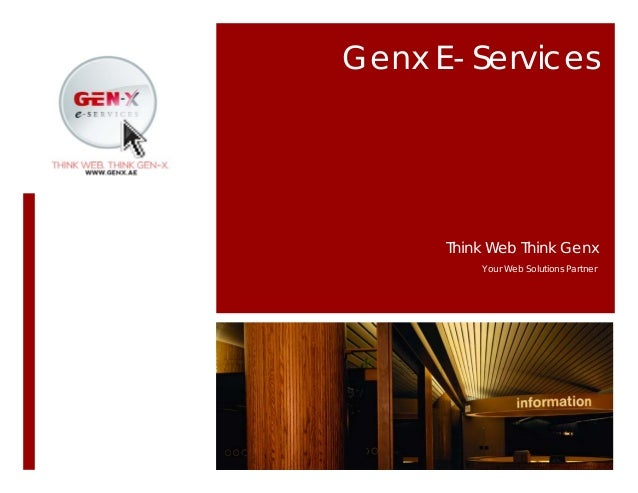 Genx E- Services Think Web Think Genx Your Web Solutions Partner