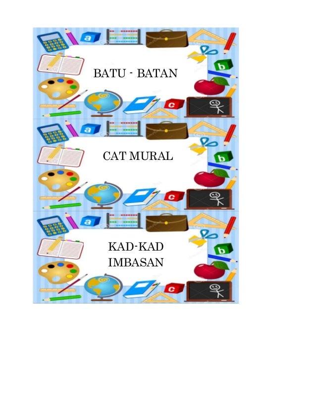 BATU - BATAN  CAT MURAL  KAD-KAD  IMBASAN