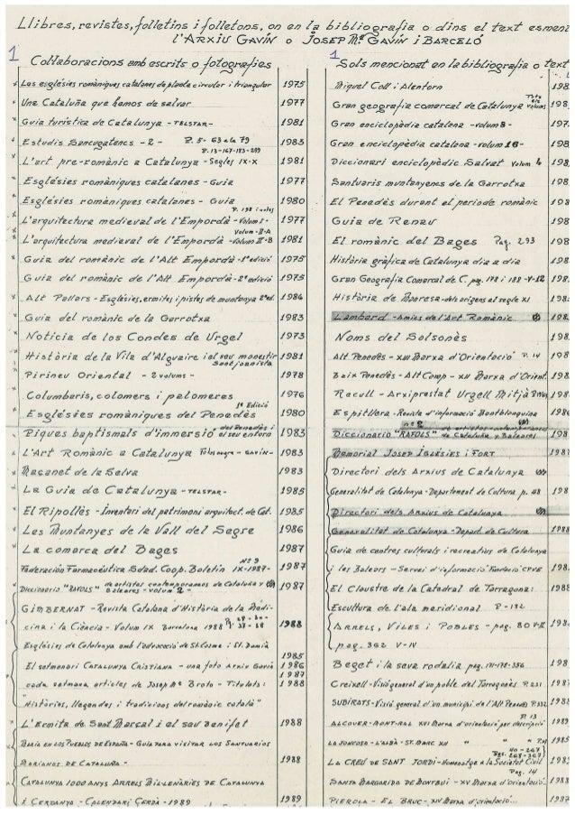 Inventari Biblioteca Arxiu Gavín