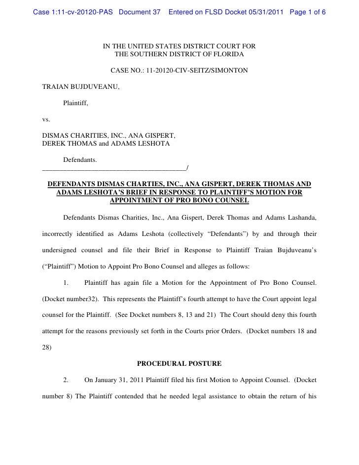 Case 1:11-cv-20120-PAS Document 37            Entered on FLSD Docket 05/31/2011 Page 1 of 6                       IN THE U...