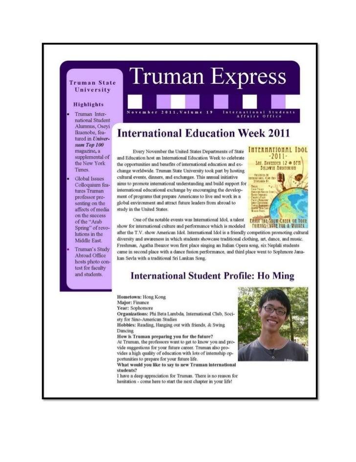Truman State University Newsletter - Intelligent Partners