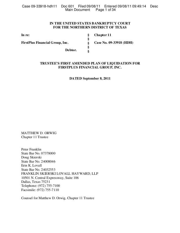 Case 09-33918-hdh11       Doc 601 Filed 09/08/11 Entered 09/08/11 09:49:14   Desc                            Main Document...