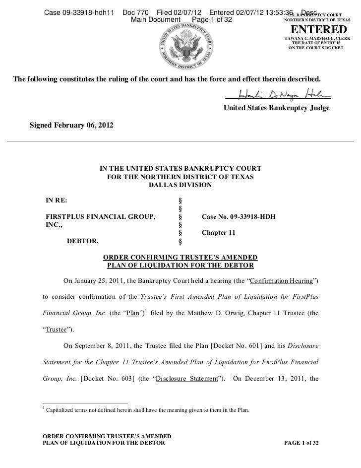 Case 09-33918-hdh11                 Doc 770 Filed 02/07/12 Entered 02/07/12 13:53:36 BANKRUPTCY COURT                     ...