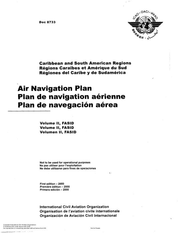 Doc 8733 air navigation plan car and south ame region vol ii for Houseplans vivente del sud