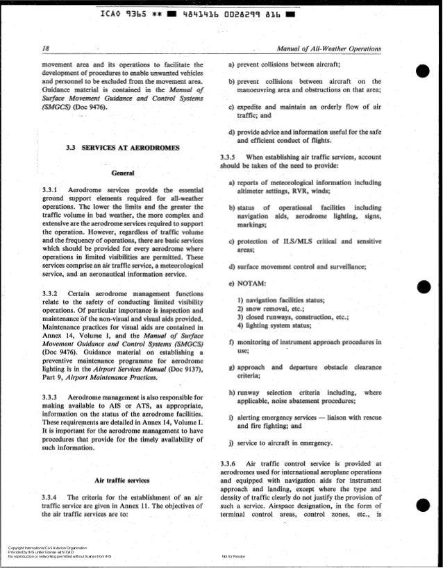 icao aerodrome design manual part 5