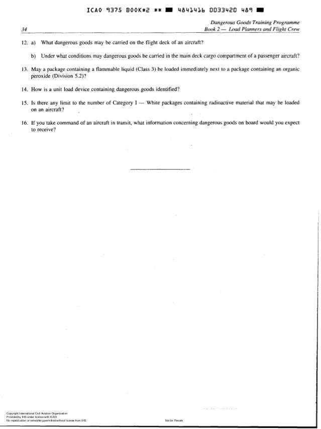 doc 9375 dangerous goods trainning programme book 2