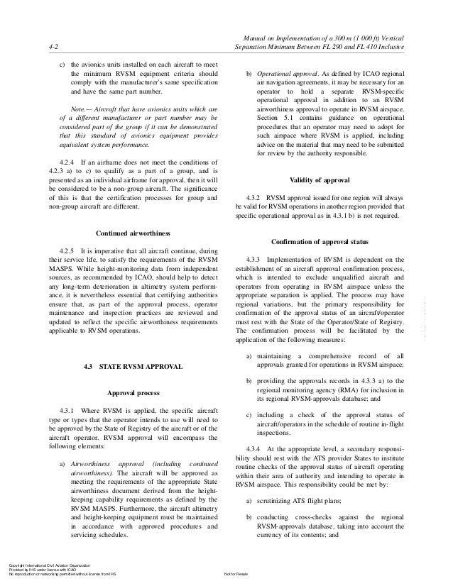 doc 9574 manual of implementation of 300 m vertical separation minimu rh slideshare net First Aid Kit Manual OSHA Safety Manual