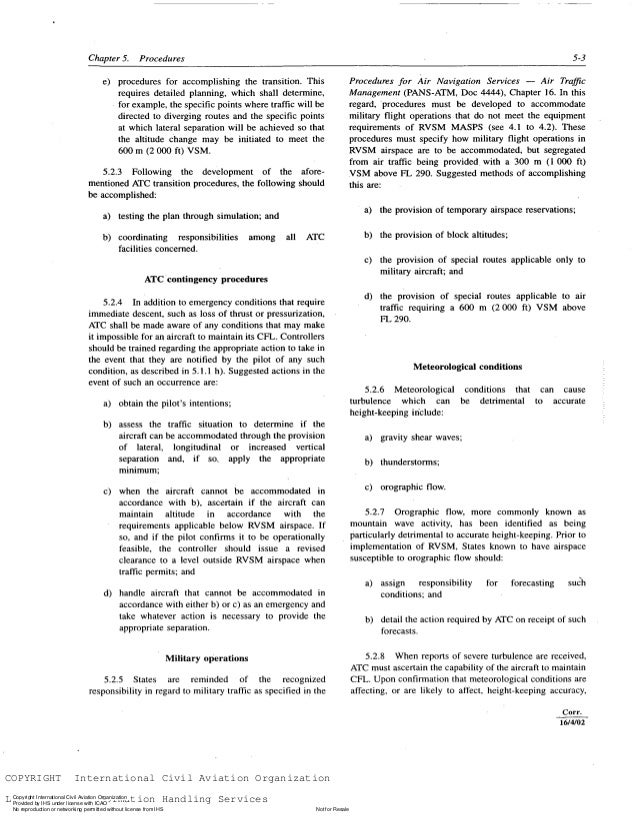 Doc 9574 manual of implementation of 300 m vertical