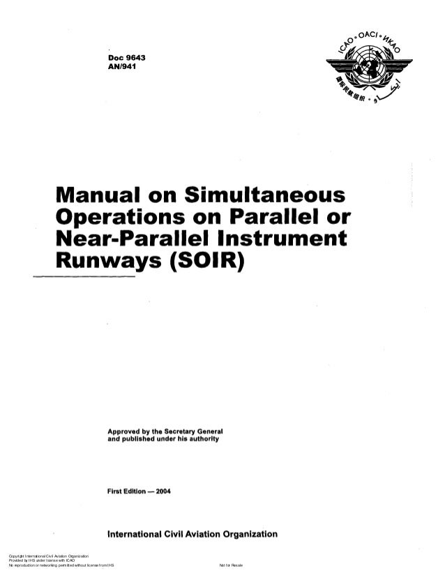 Doc 9643 manual on simultaneous ops on parallel or near