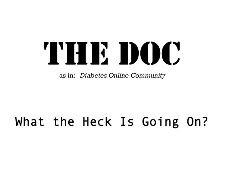 THE DOC (Diabetes Online Community): What the Heck Is Going On?