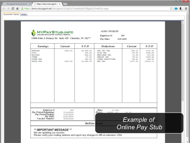 Doc Agent Relyco Paperless Tax Webinar - Paperless pay stub