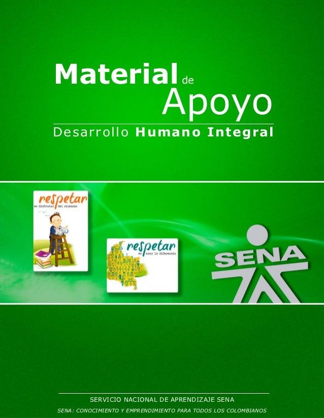 Material                            de                              ApoyoDesarrollo Hu ma n o In tegral         SERVICIO N...