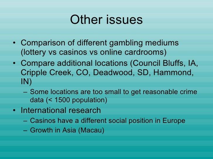 Casino cause crime southcoast casino in las vegas nv