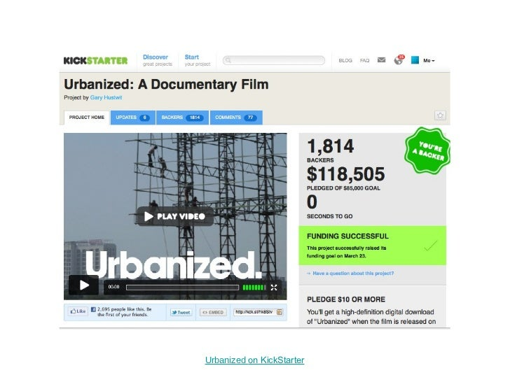 Urbanized  on KickStarter