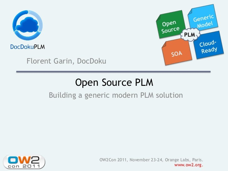 PLMFlorent Garin, DocDoku             Open Source PLM      Building a generic modern PLM solution                    OW2Co...