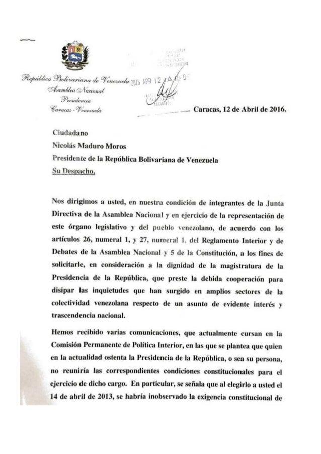 Solicitud de partida de nacimiento del presidente Nicolás Maduro