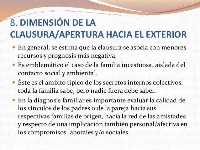 8. DIMENSIÓN DE LA CLAUSURA/APERTURA HACIA EL EXTERIOR  En general, se estima que la clausura se asocia con menores recur...