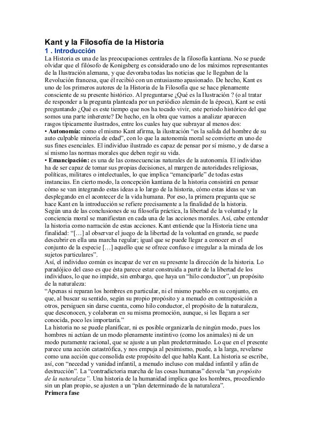 Kant y la Filosofía de la Historia 1 . Introducción La Historia es una de las preocupaciones centrales de la filosofía kan...