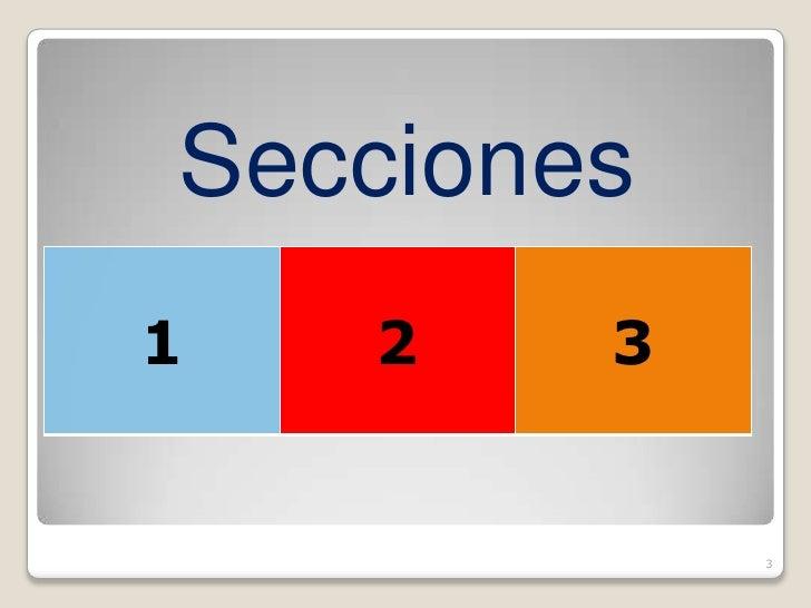 Secciones 1   2   3               3
